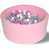 """Сухой бассейн Hotenok """"Розовые пузыри"""" 40 см, 200 шариков"""