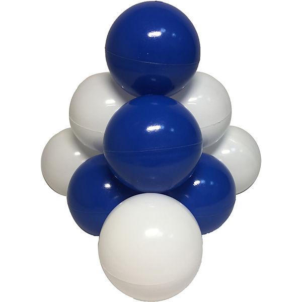 """Комплект шариков для сухого бассейна Hotenok """"Морские пузыри"""" 50 шт, синие и белые"""