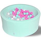 """Сухой бассейн Hotenok """"Клубничное мороженое"""" 40 см, 200 шариков"""