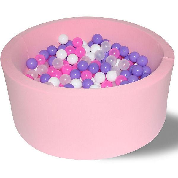"""Сухой игровой бассейн Hotenok """"Фиолетовые пузыри"""" 40 см, 200 шариков"""