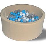 """Сухой игровой бассейн Hotenok """"Брызги на песке"""" 40 см, 200 шариков"""