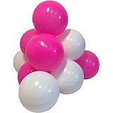 """Комплект шариков для сухого бассейна Hotenok """"Карамелька"""" 50 шт, розовые и белые"""