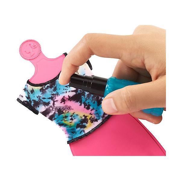 """Игровой набор Barbie Crayola """"Сделай моду сам"""" Сарафан, футболка и шорты"""