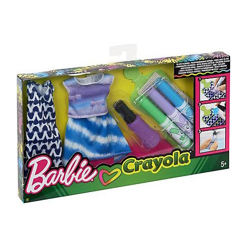 """Игровой набор Barbie Crayola """"Сделай моду сам"""" Платье, футболка и юбка от Mattel"""