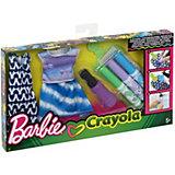 """Игровой набор Barbie Crayola """"Сделай моду сам"""" Платье, футболка и юбка"""