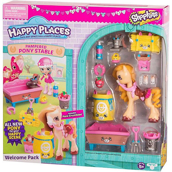 """Игровой набор Moose """"Shopkins Happy Places"""" Новоселье. Роскошная конюшня для пони"""
