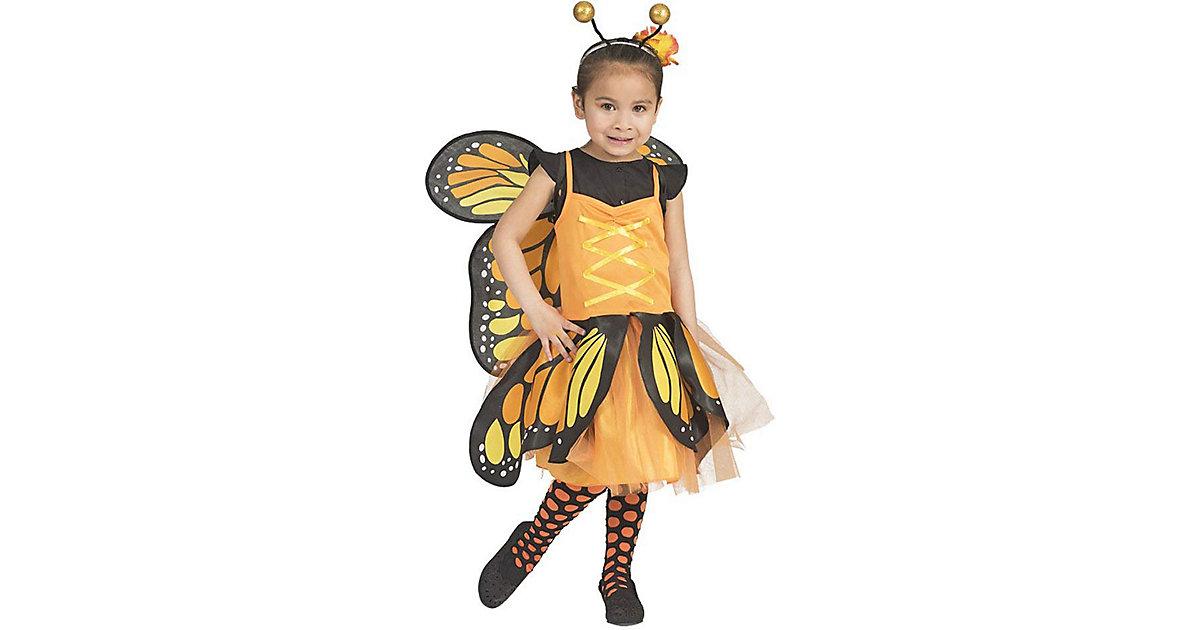 Kostüm Schmetterling orange Gr. 98/110 Mädchen Kleinkinder